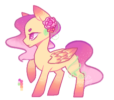 [Set price] Sunset blossoms (Open) by Ameliasketches