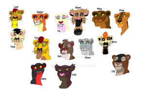 lots of TLK OCs XD by CatDasher