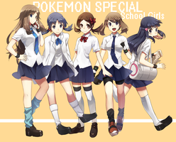 Pokemon School Girls by TwannyBizzle