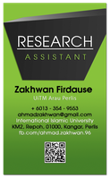 Biz Card Zakhwan 2014 Green by carnine9