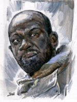 Morgan The Walking Dead Sketch Card by Stungeon