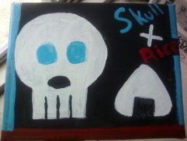 Skull X rice by ScrewAndBall