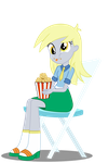 YayPonies - Muffin eating human Derpy by FloppyChiptunes