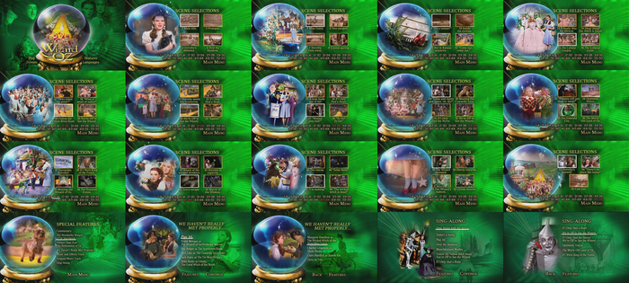 The Wizard of Oz 75th Anniversary DVD Menus by dakotaatokad