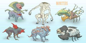 Monsters by ConceptMike