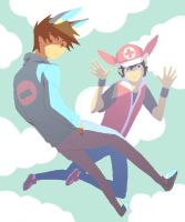 Plusle and Minun by Traptastic