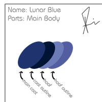 Lunar Blue Color Pallette by SPltFYre