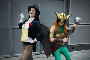 Zatanna and Hawkgirl by Lily-pily
