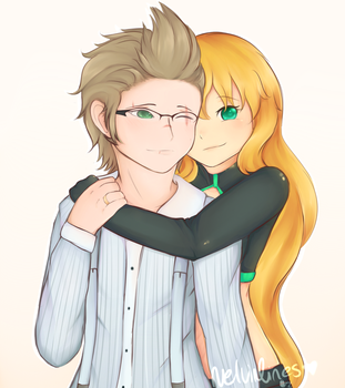 AT :  Io and Ignis by VelviaLines