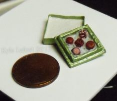 Miniature Box of Chocolates - Green Square Box by Kyle-Lefort