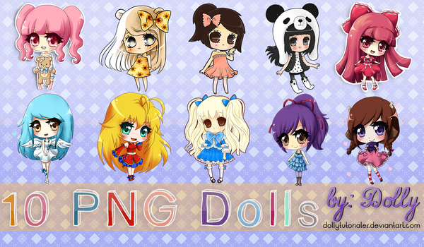 10 png Dolls by Dolly Tutoriales by DollyTutoriales