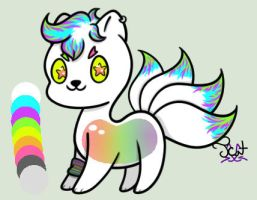 Kitlime Raffle: White Neon (Closed) by naishine