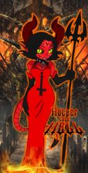 Hotter Than Hell - Devilred Dress by PlayboyVampire