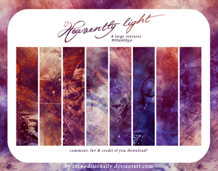 heavently light: textures set by inconditionally
