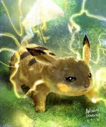 Pikachu Thunderbolt by Ubermonster