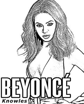 Beyonce coloring page by Topcoloringpages