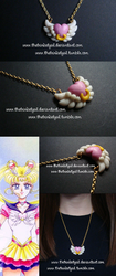 Eternal Sailor Moon Brooch Pendant by TheTrinketGal