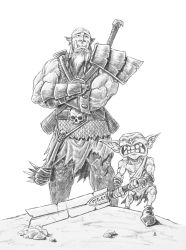 Orc and Goblin by AndrewDeFelice