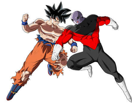 Goku Vs Jiren by naironkr