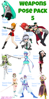MMD Weapon Stances PosePack 5 DL by KikiGirl101