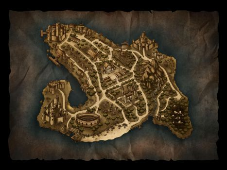 old map concept for game by gusmedi