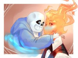 'You warm my heart, pal' - Sansby  - Undertale by KleinesWuschel