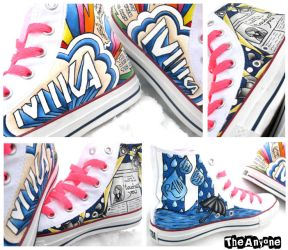 MIKA Converse Shoes by TheAnyone