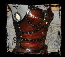 leather armor side view by Lagueuse