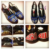 Doctor Who Hand-Painted Shoes by geekyartistgirl