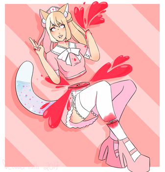 Commission, candy gore! by Lolidollcult