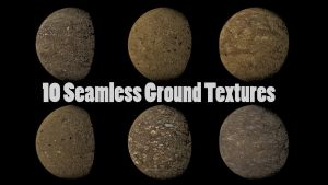 10 Seamless Ground Textures by Dogmaf