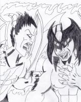 CLASH OF THE DEVILS! by Arak-8