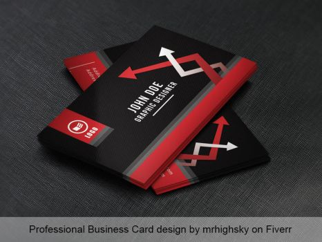 Red Identity business card by MrHighsky