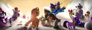 Winter in equestria by Braukoly