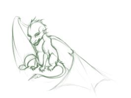 Little Dragon - Sketch by tushkanchic