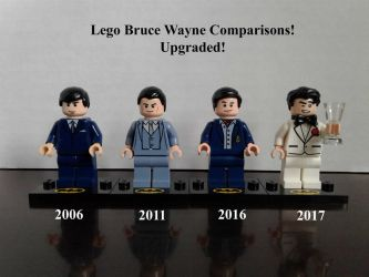 Lego Bruce Wayne Comparisons Upgraded! by lol20