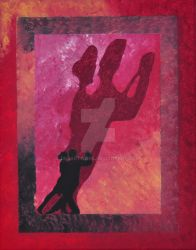Ballroom Dancers 1 - Acrylic Painting by DKS by dksartwork