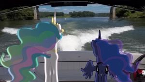 Request: Celestia And Luna Enjoying The View by Mr-Kennedy92