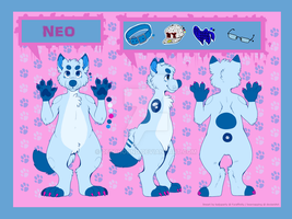 Updated refsheet of Neo~ by Derphound