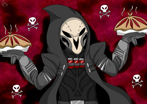 OVERWATCH || Reaper .  Pie Pie Pie by NikkiNova-ART