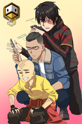 Aang, Sokka, and Zuko (Modern edition) by DuckLordEthan