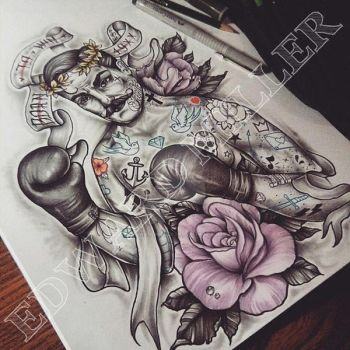 NEOTRAD BOXER ROSES BORN TO WIN by EdwardMiller