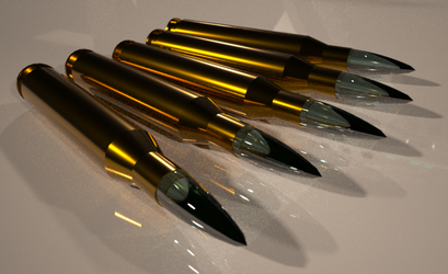 Danium shards of the M173 Needle Sniper Rifle by Duskie-06