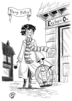 b/w Harry Potter by roby-boh