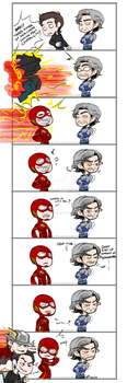 Barry Suits Up by DarkLitria