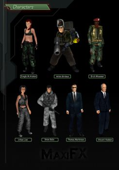 Characters SET 3 Syphon Filter 1999 by SFCreator