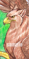 Gryphon Bookmark by neon-possum