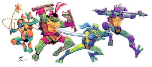 Rise of the TMNT (Colours) by Ziggyfin