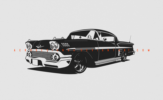 COMMISSION: Chevrolet 58 Impala by AeroDesign94