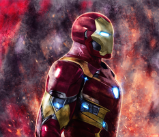 Captain America : Civil War - Iron Man by p1xer